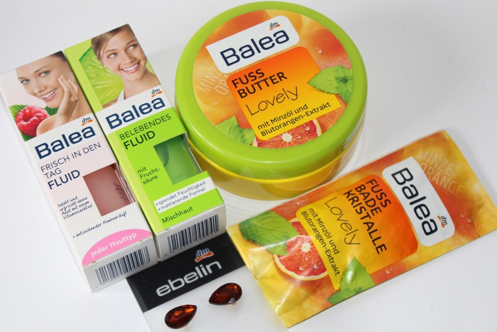 DM #8 - Balea fluidi (za sve tipove kože i za mješovitu kožu), maslac i kristal-kupka za stopala