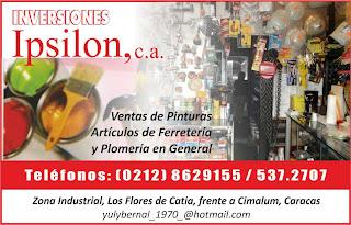 INVERSIONES IPSILON, C.A. en Paginas Amarillas tu guia Comercial