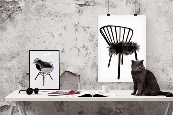konsttryck, tavlor i svartvitt, svartvit tavla, svartvita tavlor, posters, poster med stolar, stol, stolen, artprint, artprint, webbutik, webbutiker, webshop, inredning, inredningsblogg, blogg, bloggar, svart och vitt, svarta och vita, print, prints, på väggen, anneliesdesign, annelies design & interior