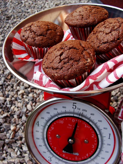 muffiny czekoladowe z bananem