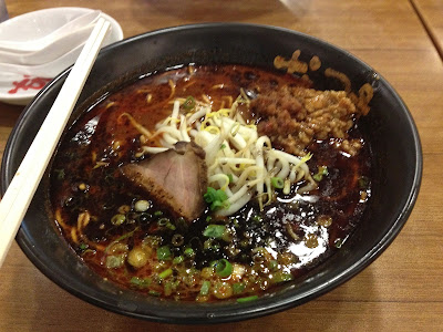 Extra hot ramen soup at Singapore