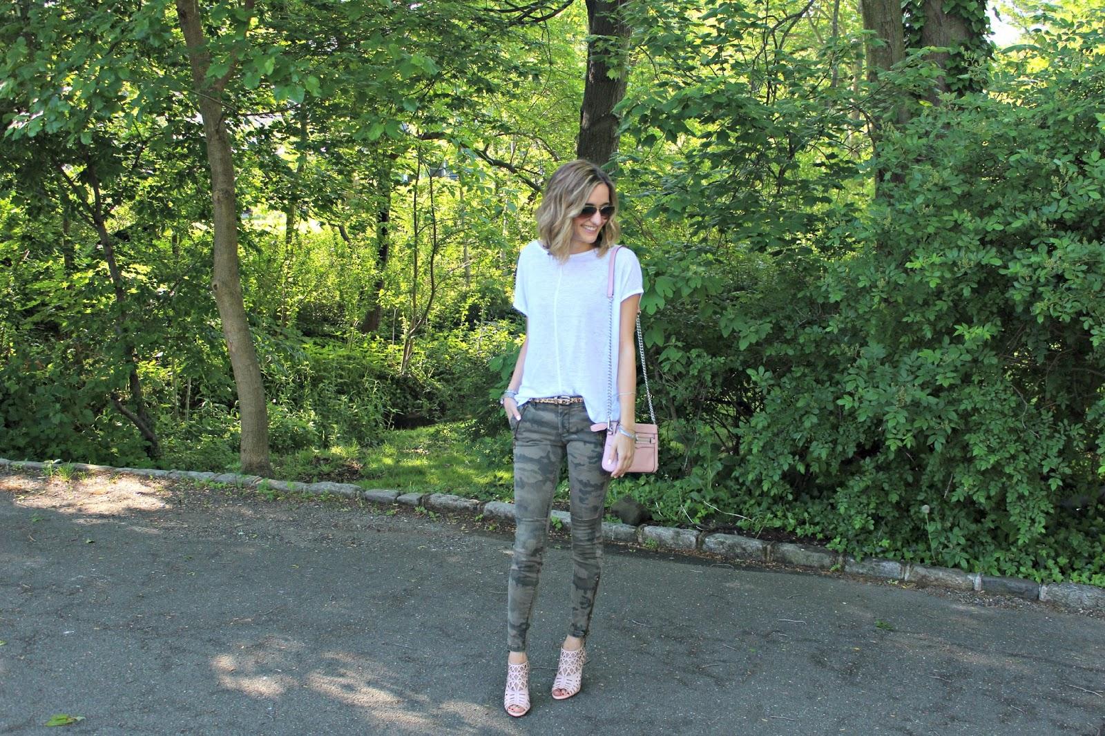 springtime camo pants outfit