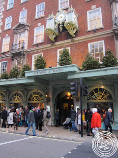 Image of the Entrance of Fortnum & Mason in London, England