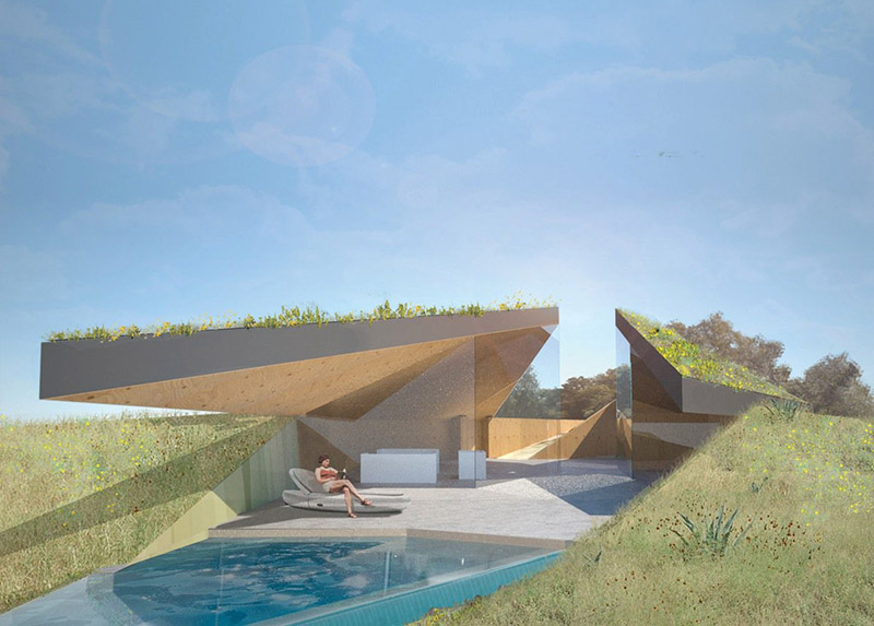 Marvelous While The Essence Of The Project Is Conversant With A Native American Pit  House, The Roof Form Has Been Largely Influenced By The Ancient Art Of  Origami. Pictures