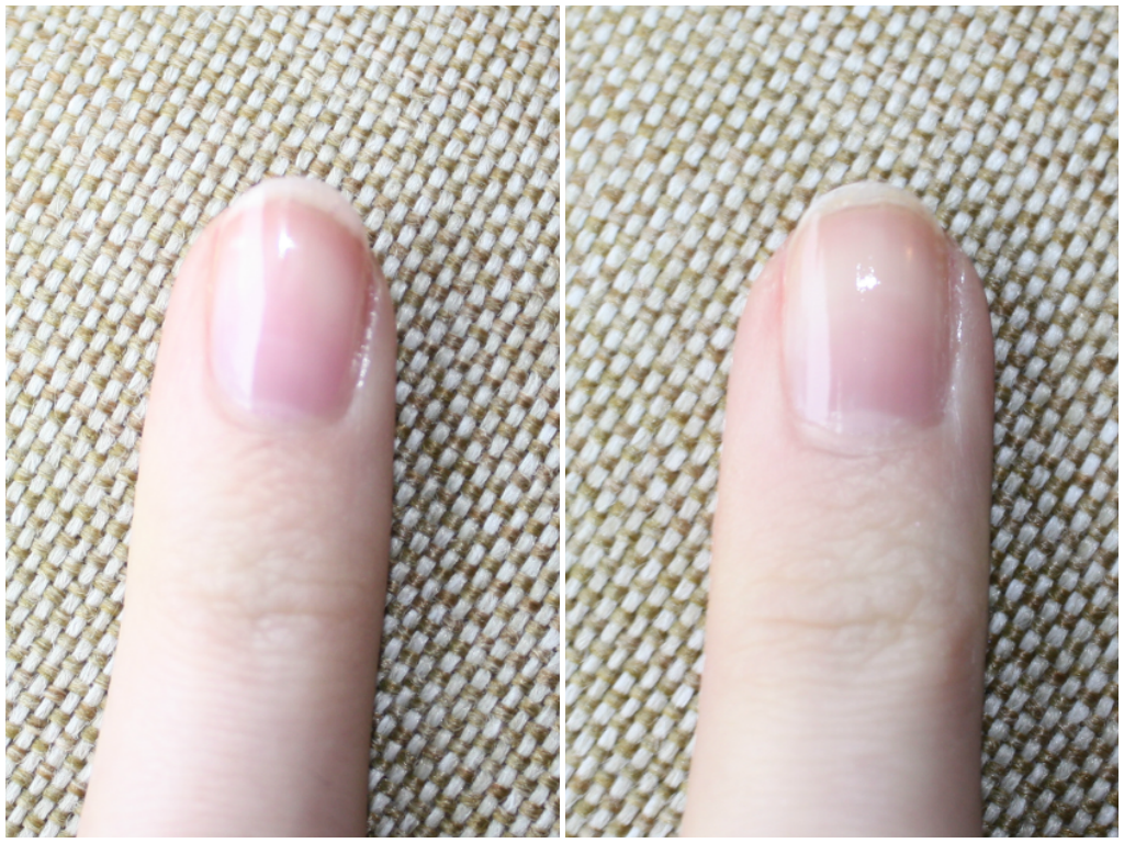 Dior Nail Glow vs Regular Top Coat Comparison Swatch
