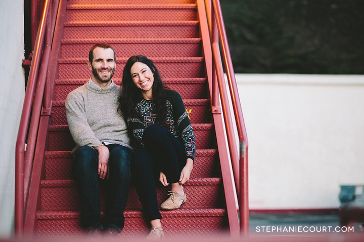 engagement session at fort mason
