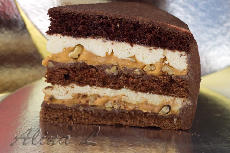 Торт с шоколадом внутри рецепт пошагово