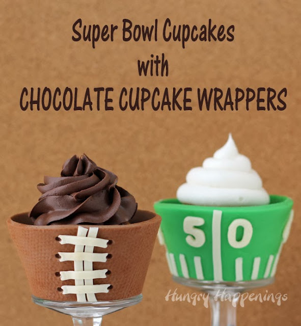super bowl dessert edible cupcake wrappers