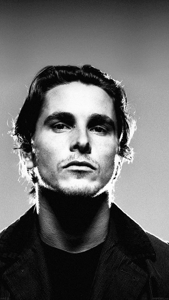 Christian Bale Movie Actor Portrait  Galaxy Note HD Wallpaper