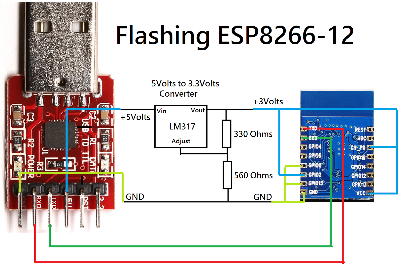 how to download the bin file on esp8266
