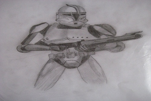 how to draw a star wars stormtrooper