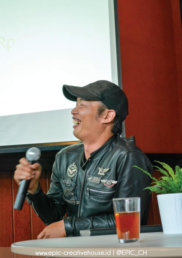 Kang Argun menyampaikan materi tentang SEO