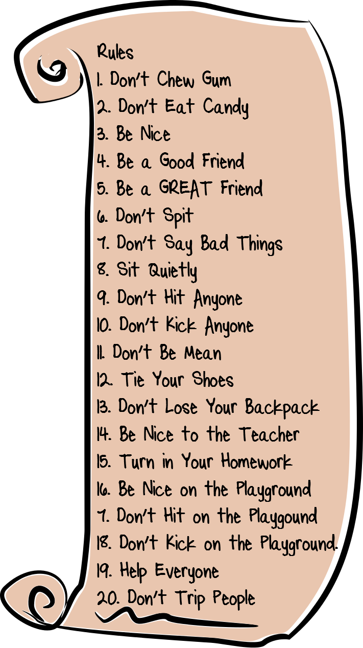 Teaching Isnt So Bad: Be Good and Other Ineffective Rules.