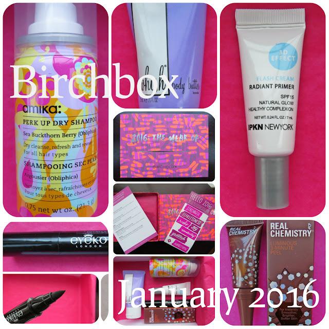 January 2016 Birchbox Review