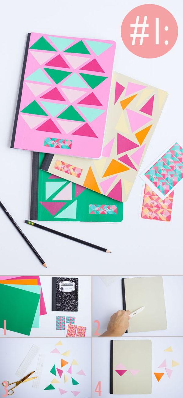 C mo decorar cuadernos o libretas paso a paso - Como decorar cuadernos ...