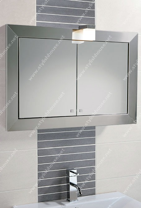 Bathroom cabinets with mirrored doors