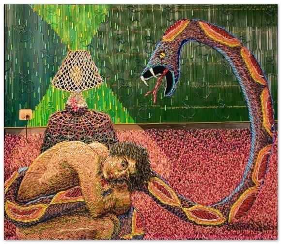 Federico Uribe pinturas feitas com lápis Amor perigoso
