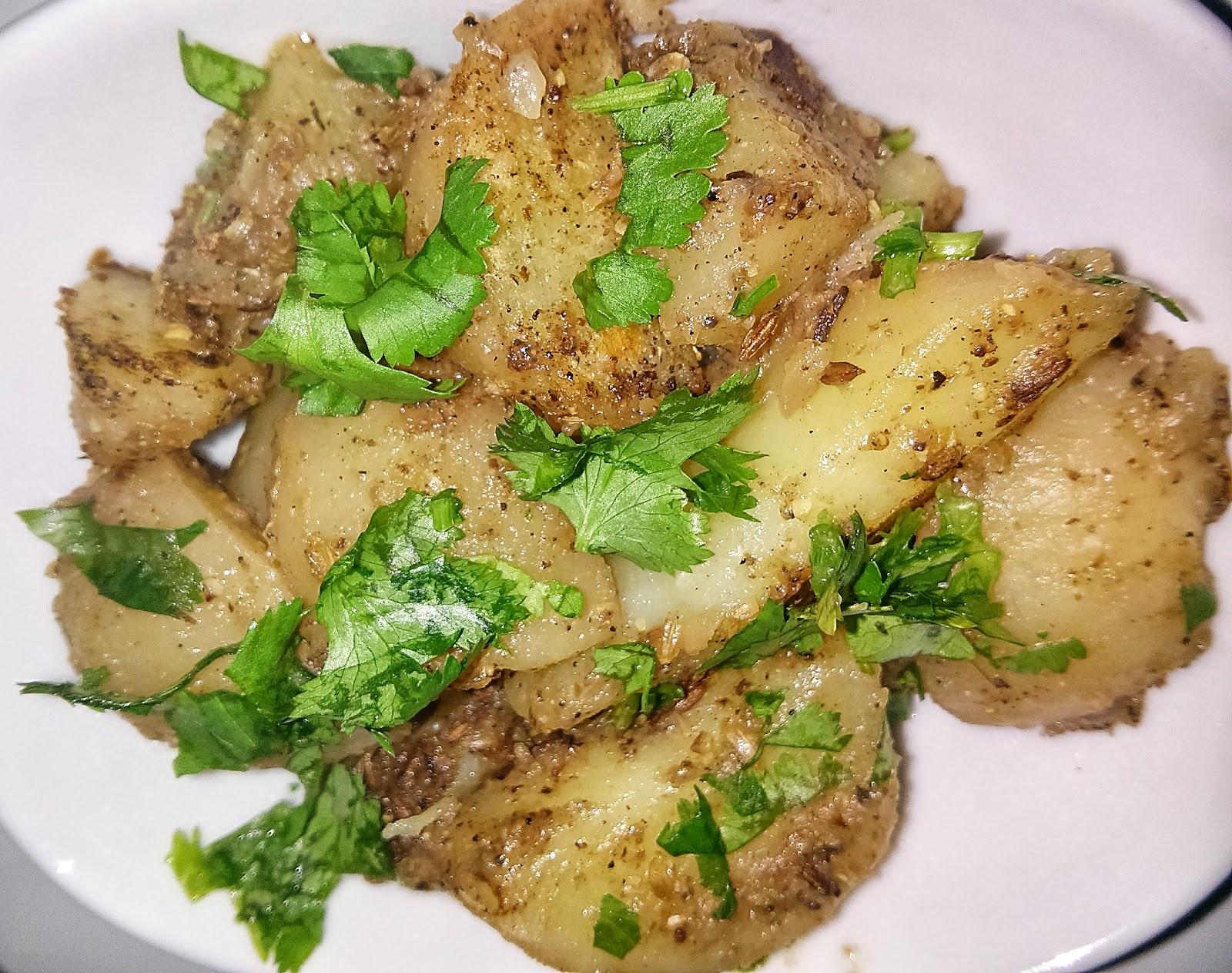jeera aloo / chatpata aloo ( spicy potato wedges)