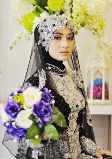Baju Kebaya Pengantin Muslim Kombinasi