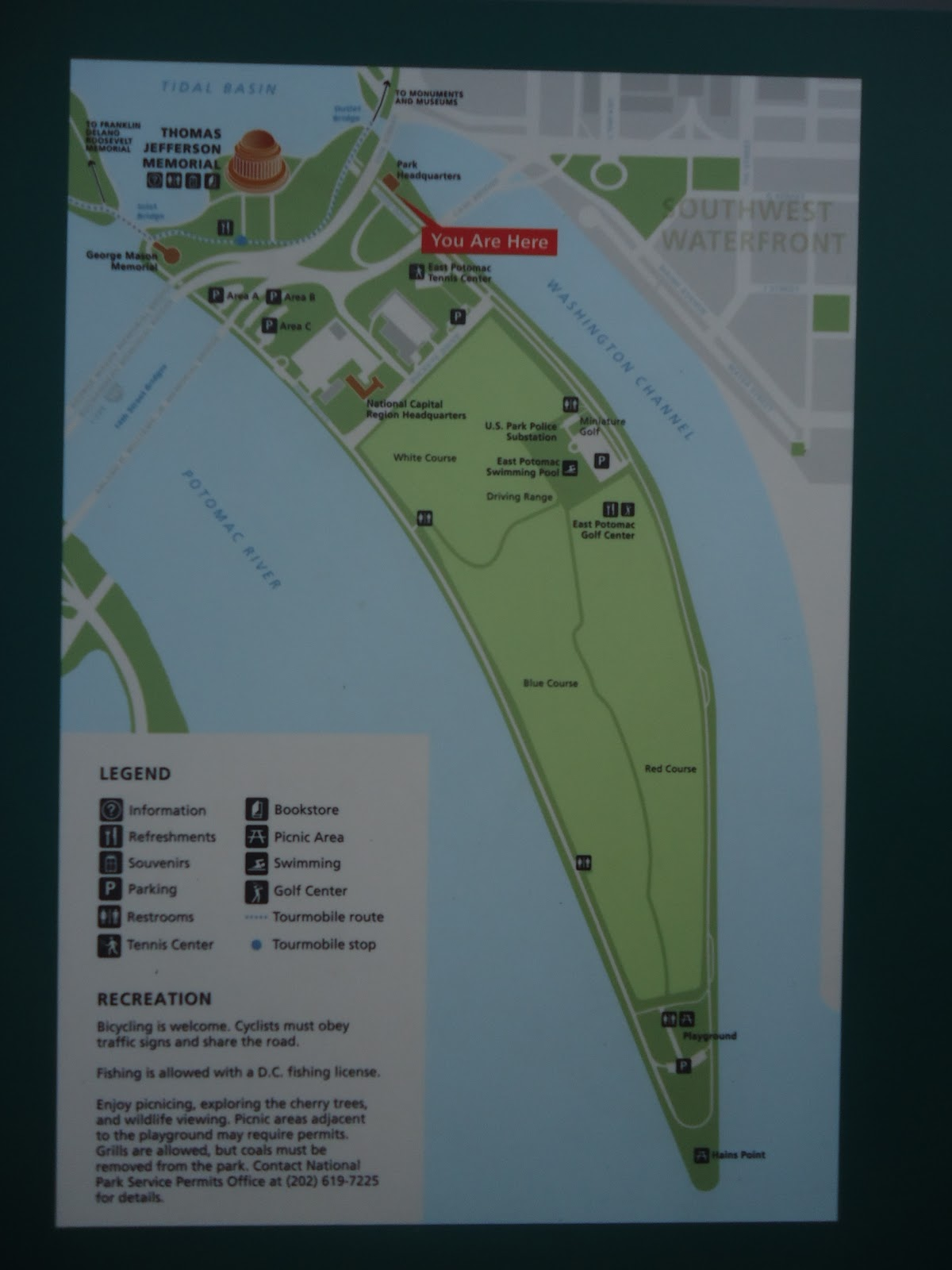 60 Hikes Hike 3 Potomac Park and Hains Point