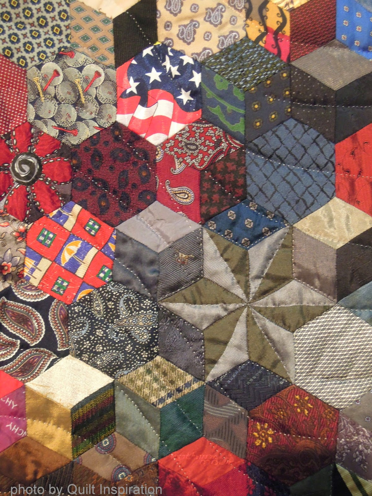 Quilt Inspiration: Necktie quilts for Dad : mens tie quilt - Adamdwight.com