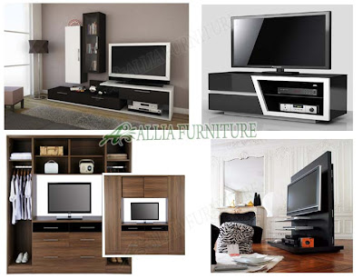 model & tipe furniture minimalis rak tv