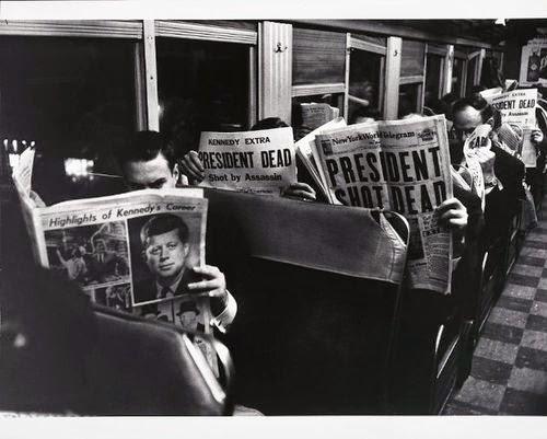 Muerte de Kennedy en los periódicos
