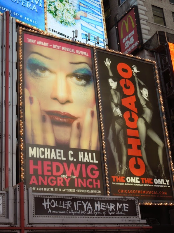 Hedwig Chicago musical billboards Times Square