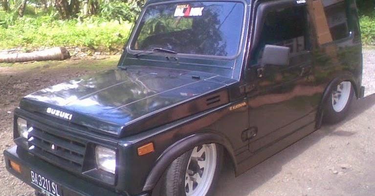Modifikasi mobil katana ceper gx jimny long 4x4 offroad tahun 1988