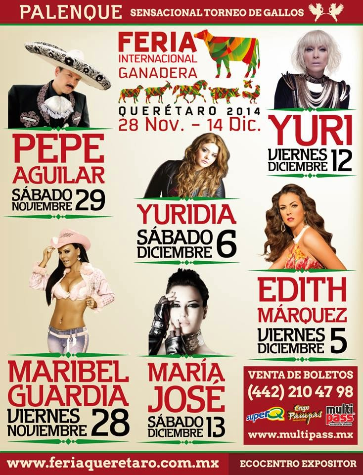 programa del palenque Feria Querétaro 2014
