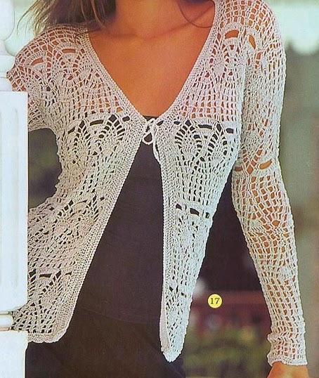 Saquito de verano | Crochet y Dos agujas - Patrones de tejido