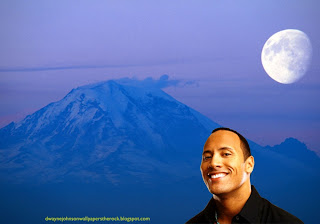 Desktop Wallpapers of Dwayne Johnson Smiling in Ascent Moon Blue Mountain wallpaper