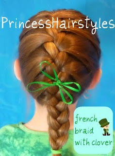 french braid with clover