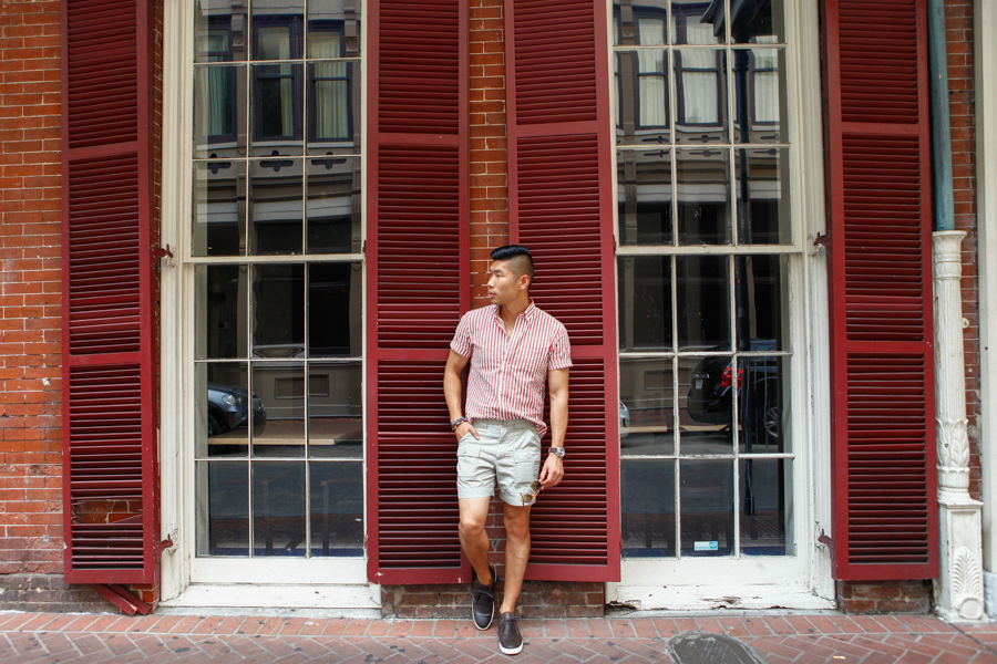 Levitate Style Gordon Rush City - New Orleans | Gordon Rush Liverpool Chukka Sneaker, Haspel Seersucker Shirt, menswear, Leo Chan, Alicia Mara