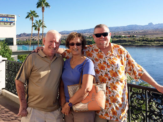 My Laughlin, Nevada travel companions: Clete, Barbara and hubby Paul