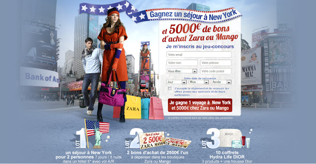 10 coffrets Hydra Life Dior + 1 séjour à New York + 2 bons de 2500€