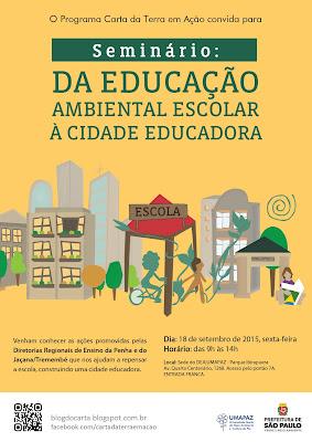 Da Educação Ambiental Escolar a Cidade Educadora