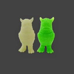 San Diego Comic-Con 2014 Exclusive Glow in the Dark & Slime Green Micro Greasebat Vinyl Figure by Jeff Lamm