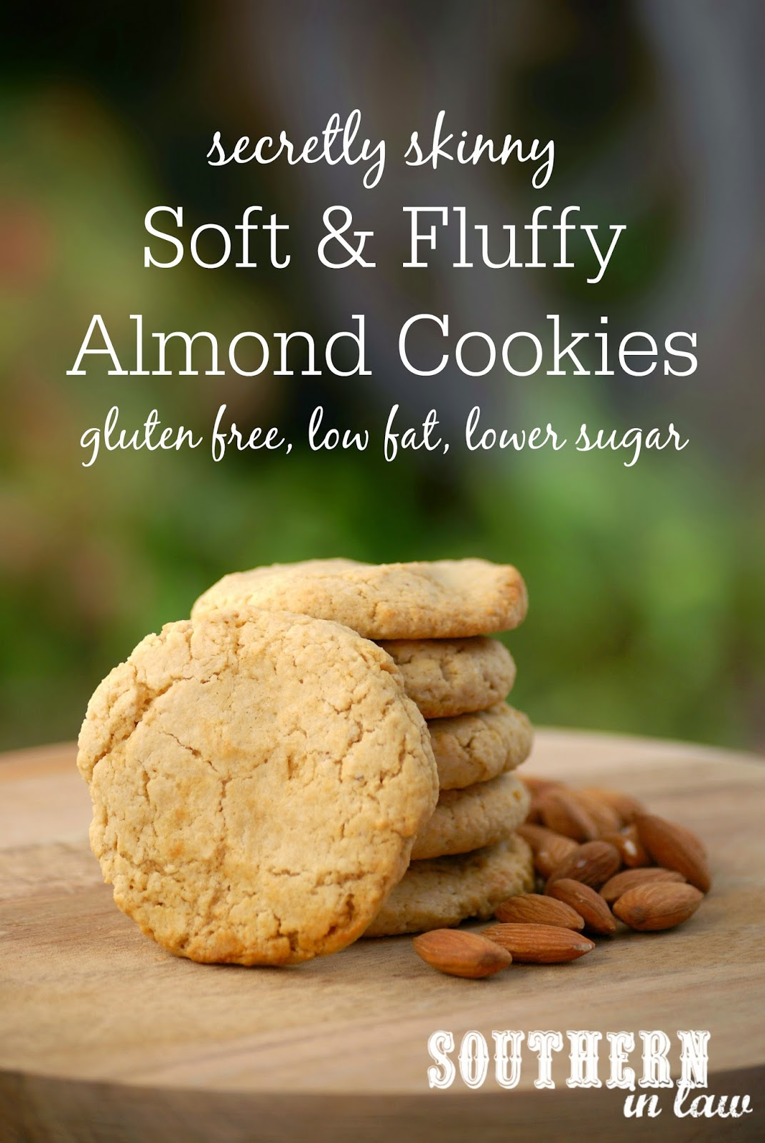 Secretly Skinny Almond Meal Cookies Recipe - Soft and Fluffy Almond Meal Cookies - gluten free, low fat, low sugar, one bowl cookie recipe, healthy cookies