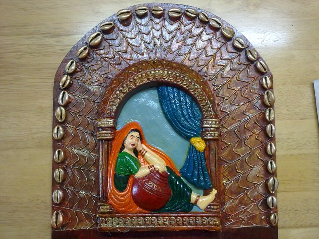 Farah Art Creations Rajasthani Mural Key Holder