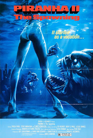 Poster Of Piranha II: The Spawning In Dual Audio Hindi English 300MB Compressed Small Size Pc Movie Free Download Only At worldfree4u.com