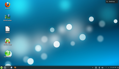 openSUSE 12.3 - Desktop with Folder View and a lighter background