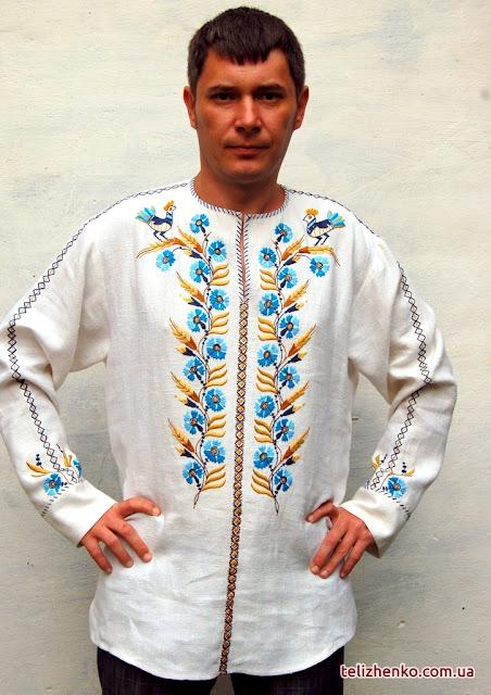Сорочка Волошки в житі від майстерні Олександри Теліженко, Україна