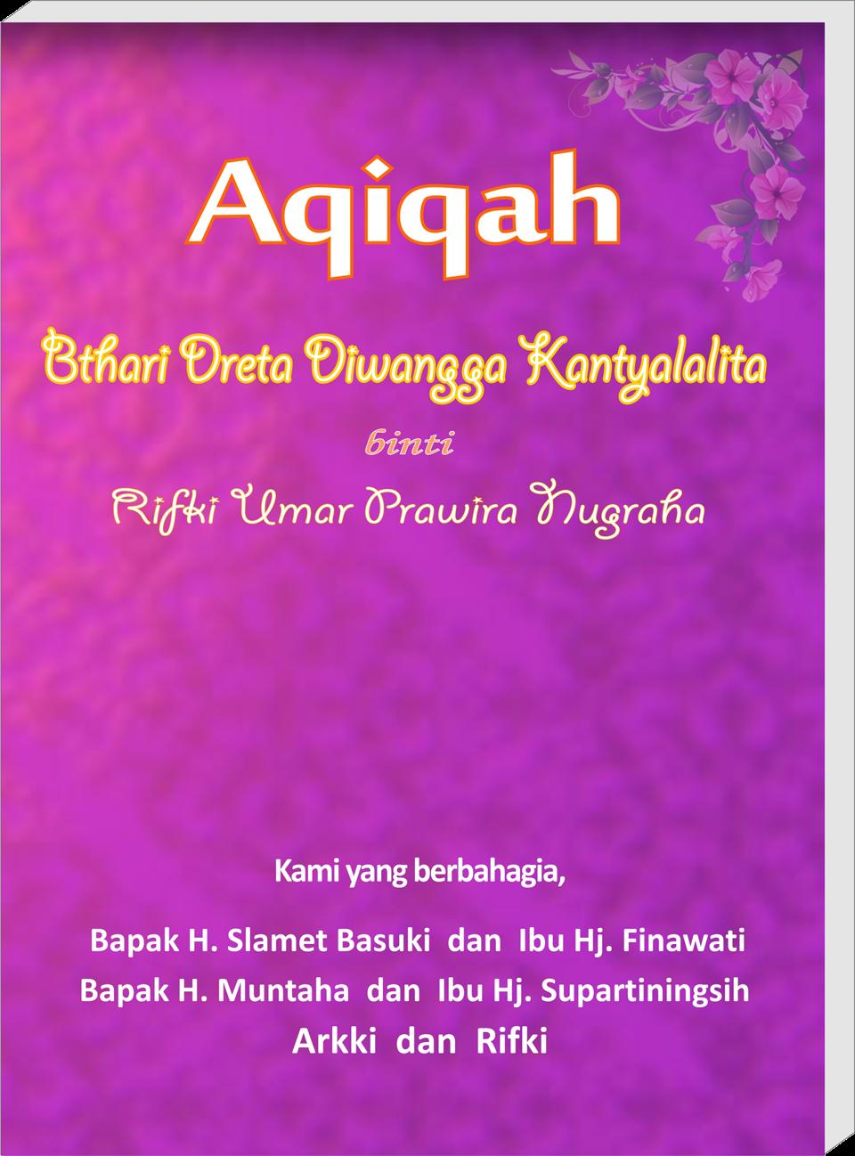 Buku Souvenir Aqiqah