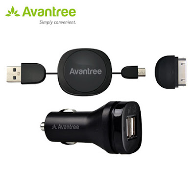 Avantree Dual USB car Charger Kit