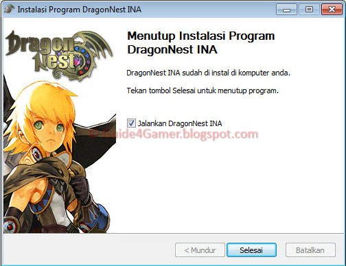 cara  manual patch dragon nest indonesia