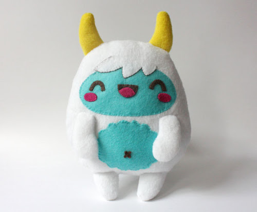http://crafts.tutsplus.com/tutorials/how-to-make-a-kawaii-yeti-monster-plush-softie--craft-8553