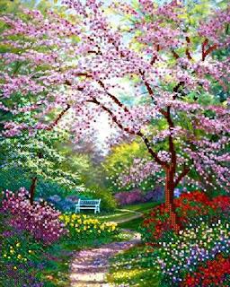Весенний сад фото