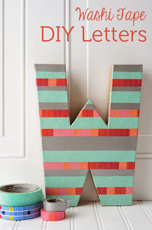 DIY: Letras XXL con Washi tape
