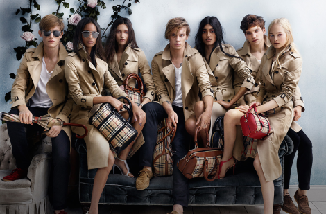Burberry Spring 2014 Cast of Models by Mario Testino